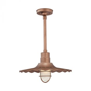 Millennium Lighting R Series 1-Light Radial Wave Shade in Copper