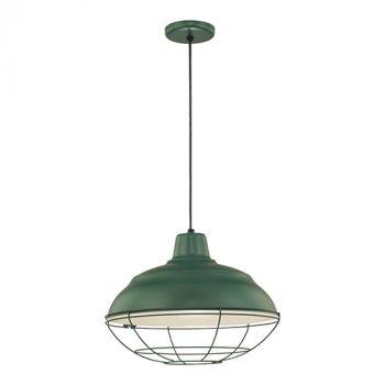 Millennium Lighting R Series 1-Light Pendants in Satin Green