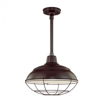 Millennium Lighting R Series 1-Light Warehouse Shade in Architect Bronze