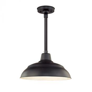 Millennium Lighting R Series 1-Light Warehouse Shade in Satin Black