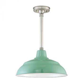 Millennium Lighting R Series 1-Light Warehouse Shade in Green