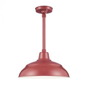 Millennium Lighting R Series 1-Light Warehouse Shade in Satin Red
