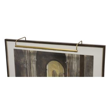 "House of Troy Slim-line 30"" Weathered Brass Picture Light"