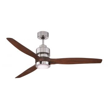 "Craftmade Sonnet 60"" Ceiling Fan w/ Walnut Blades in Chrome"