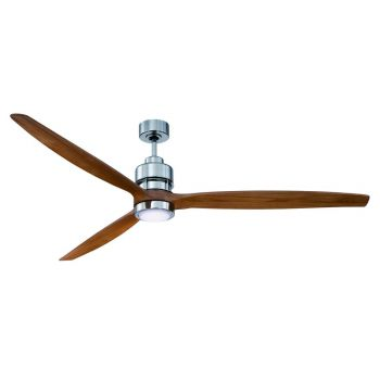 "Craftmade Sonnet 70"" Ceiling Fan w/ Light Oak Blades in Chrome"