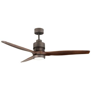 "Craftmade Sonnet 52"" Ceiling Fan w/ Walnut Blades in Espresso"