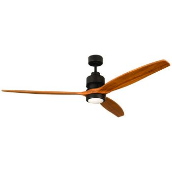 "Craftmade Sonnet 60"" Ceiling Fan w/ Light Oak Blades in Espresso"