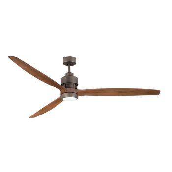 "Craftmade Sonnet 70"" Ceiling Fan w/ Light Oak Blades in Espresso"