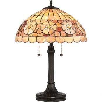 "Quoizel Sea Shell Sanibel 23"" 2-Light Table Lamp in Vintage Bronze"