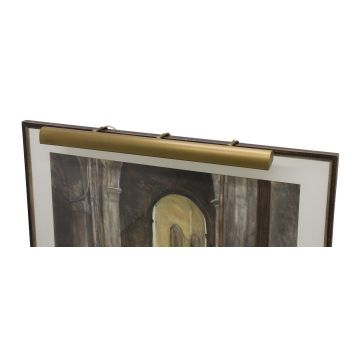 "House of Troy Traditional 42"" Weathered Brass Picture Light"