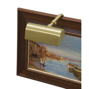 "House of Troy Traditional 5"" Satin Brass Picture Light"
