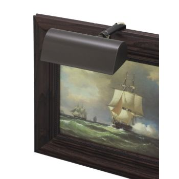 "House of Troy Traditional 5"" Mahogany Bronze Picture Light"