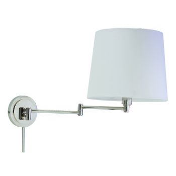 House of Troy Townhouse Polished Nickel Swing-Arm Wall Lamp