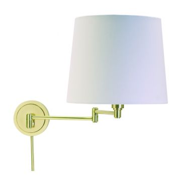 House of Troy Swing-Arm Wall Lamp in Raw Brass Finish