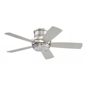 "Craftmade Tempo Hugger 44"" LED Ceiling Fan in Brushed Polished Nickel"