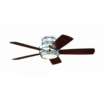 "Craftmade Tempo Hugger 44"" Ceiling Fan with Blades & LED Kit in Chrome"
