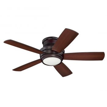 Craftmade Tempo Hugger Ceiling Fan with Blades & LED Kit in Oiled Bronze