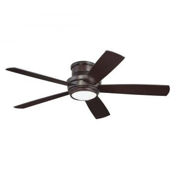 Craftmade Tempo Hugger Ceiling Fan w/ Blades & LED Kit in Oiled Bronze