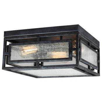 Feiss Prairielands 2-Light Ceiling Light in Dark Weathered Zinc