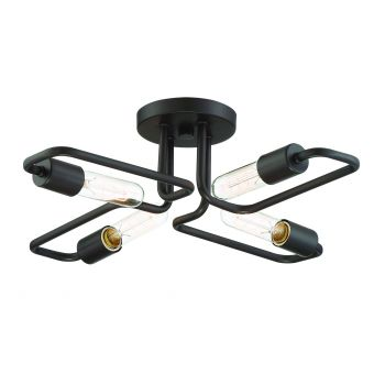 Trade Winds Angles 4-Light Ceiling Light in Oil Rubbed Bronze
