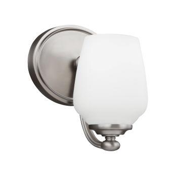 Sea Gull Lighting Vintner 1-Light Bathroom Vanity Light in Satin Nickel Finish