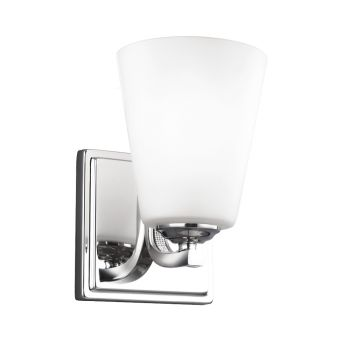 Feiss Pave 1-Light Sconce in Polished Nickel Finish