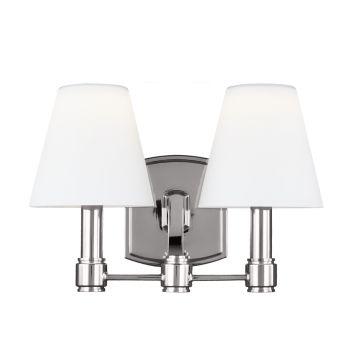 Feiss Leddington 2-Light LED Bath Vanity in Polished Nickel