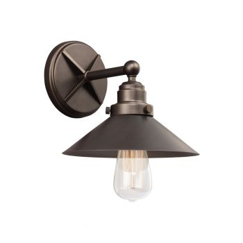 """Feiss Hooper 9"""" Wall Sconce in Antique Bronze"""