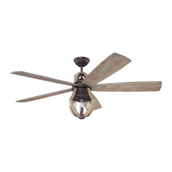 "Craftmade 56"" Winton Ceiling Fan in Aged Bronze Brushed/Weathered Pine"