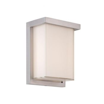 Modern Forms Ledge 1-Light Outdoor Wall Light in Brushed Aluminum