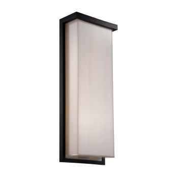 Modern Forms Ledge 1-Light Outdoor Wall Light in Black