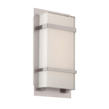 Modern Forms Phantom 1-Light Outdoor Wall Light in Stainless Steel