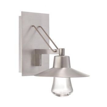 Modern Forms Suspense 1-Light Outdoor Wall Light in Brushed Aluminum