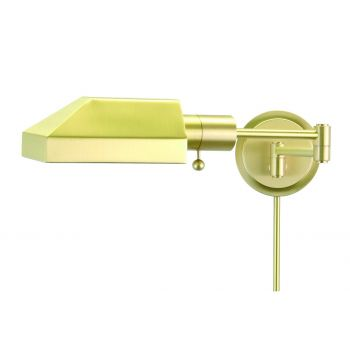 House of Troy Swing-Arm Wall Lamp in Satin Brass Finish