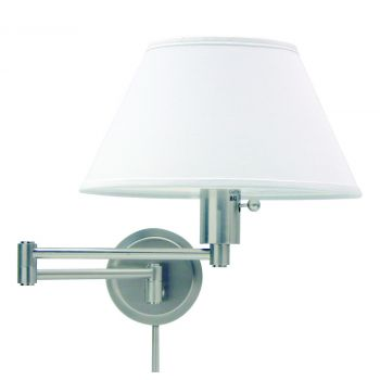 House of Troy Swing-Arm Wall Lamp in Satin Nickel Finish