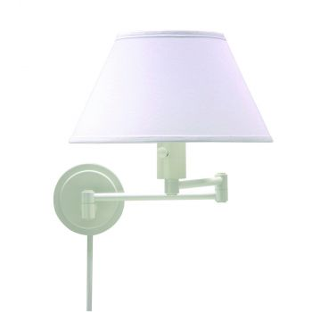 House of Troy Swing-Arm Wall Lamp in White Finish