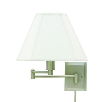 House of Troy Swing-Arm Wall Lamp in Pewter Finish