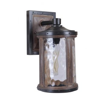 """Craftmade Madera 12.61"""" Wall Mount in Textured Black/Whiskey Barrel"""