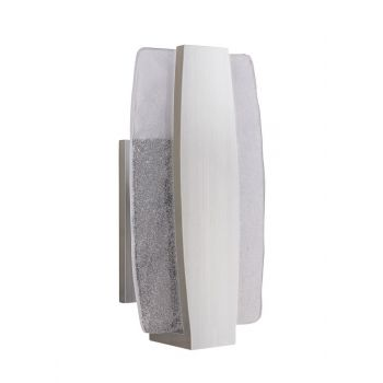 "Craftmade Duo 11"" LED Pocket Wall Sconce in Stainless Steel"