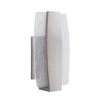 "Craftmade Duo 14"" LED Pocket Wall Sconce in Stainless Steel"
