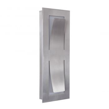 "Craftmade Enzo 13.5"" LED Pocket Wall Sconce in Satin Aluminum"