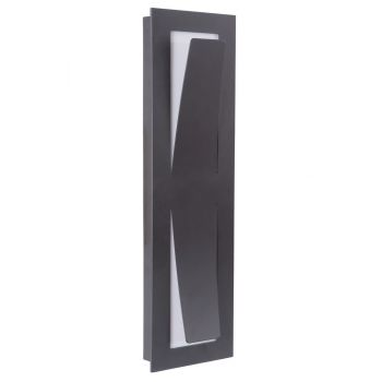 "Craftmade Enzo 17.75"" LED Pocket Wall Sconce in Midnight"