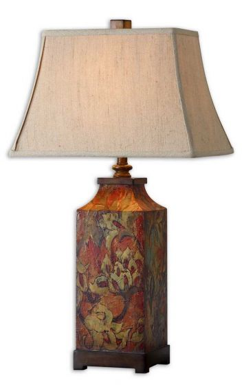 Uttermost Colorful Flowers Table Lamp