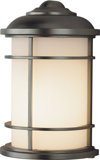 """Feiss Lighthouse Wall 7"""" Mount Lantern in Bronze Finish"""
