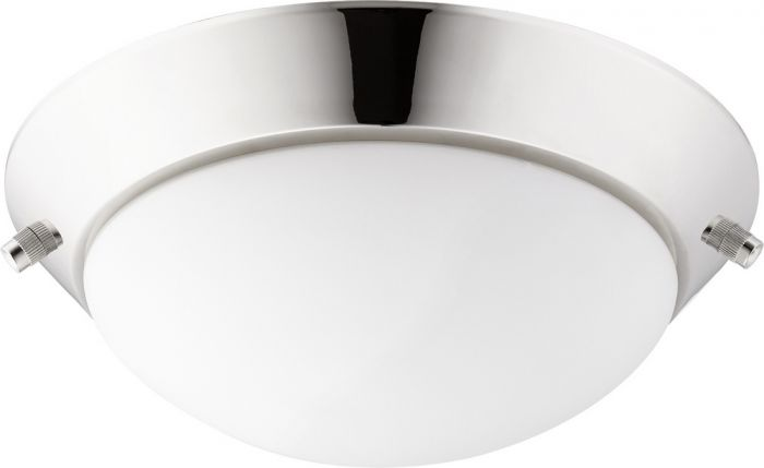 "Quorum International  2-Light 10"" Ceiling Fan Light Kit in Polished Nickel"