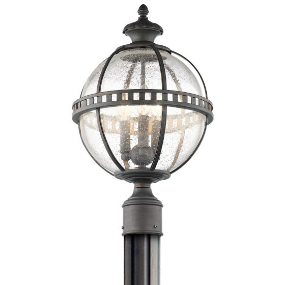 Ld Kichler: Kichler Halleron 3-Light Outdoor Post Lantern In