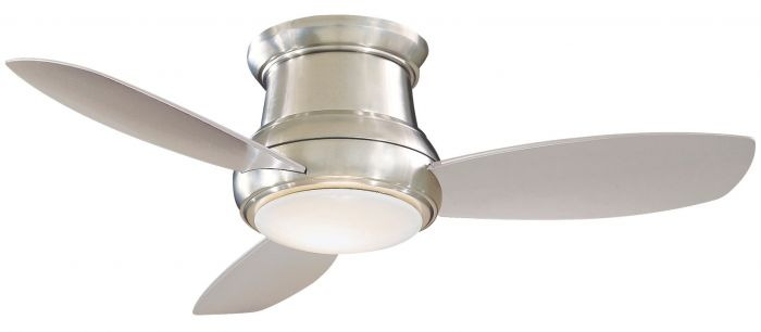 """Minka-Aire Concept II 44"""" LED Flush Ceiling Fan in Brushed Nickel"""
