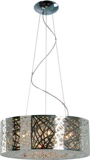 ET2 Inca 9-Light Drum Pendant, Polished Chrome