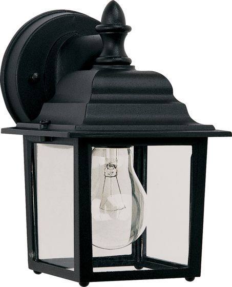 "Maxim Lighting Builder Cast 8.5"" Outdoor Wall Light - Black"