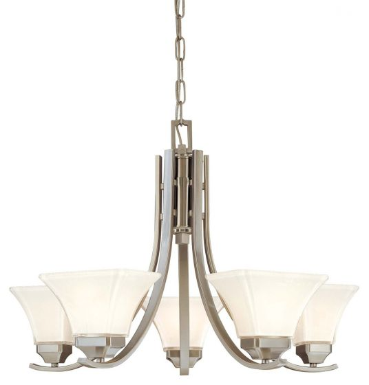 Minka Lavery Agilis 5-Light Chandelier in Nickel